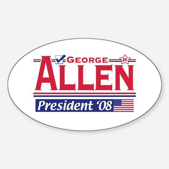 George Allen 2008 Gear Oval Decal