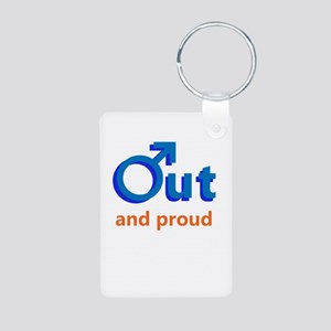 Out And Proud (M) Aluminum Photo Keychain