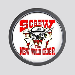 Screw The New World Order Wall Clock