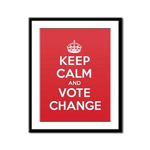 K C Vote Change Framed Panel Print