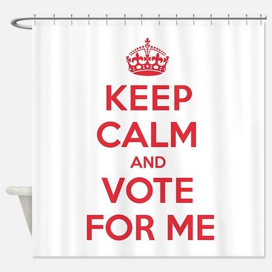 K C Vote Me Shower Curtain