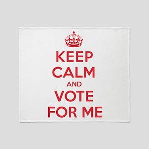 K C Vote Me Throw Blanket