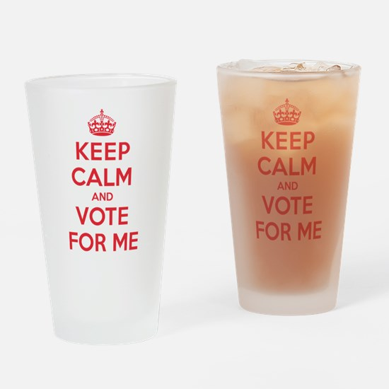 K C Vote Me Drinking Glass