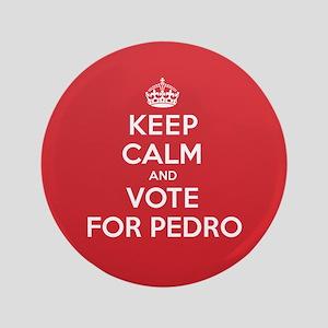 """K C Vote Pedro 3.5"""" Button"""