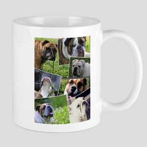 bulldog collage Mug