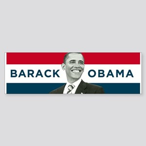 Barack Obama (Red, White Blue with Image) Sticker