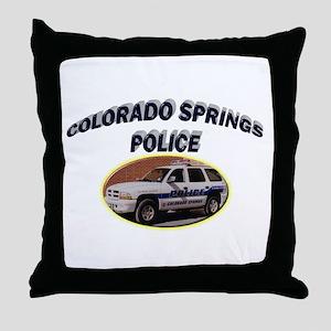 Colorado Springs Police Throw Pillow
