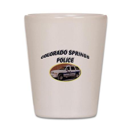 Colorado Springs Police Shot Glass