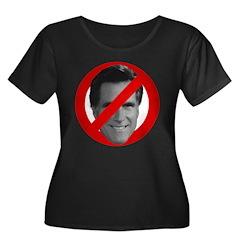 No Mitt Women's Plus Size Scoop Neck Dark T-Shirt
