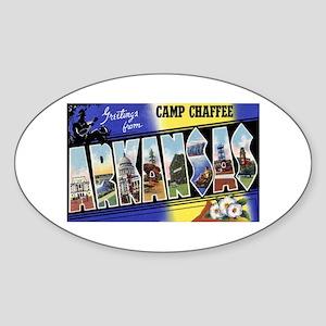 Camp Chaffee Arkansas Oval Sticker
