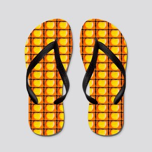 Tennis Father's Day Orange Artsy Zori Flip Flops