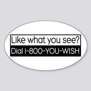 1-800-YOU-WISH Oval Sticker
