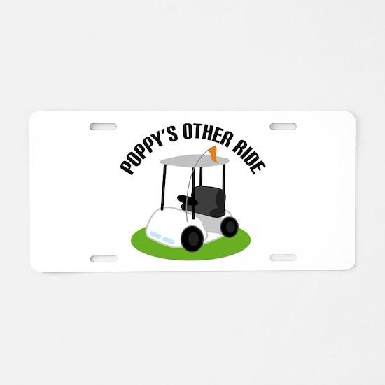 Poppy Golf Cart Aluminum License Plate