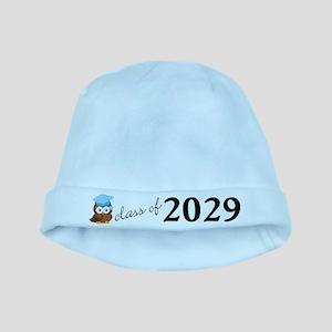 Class Of 2029 Cute Owl Graduation Baby Hat