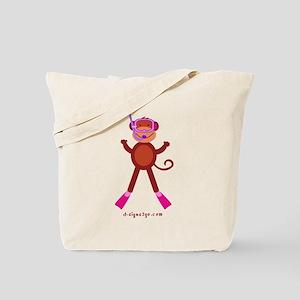 Monkey Snorkel - Pink Tote Bag