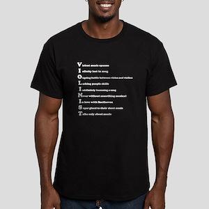 Violinist Men's Fitted T-Shirt (dark)