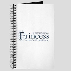 Princess Certificate Journal