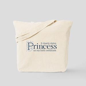 Princess Certificate Tote Bag