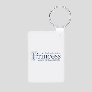 Princess Certificate Aluminum Photo Keychain