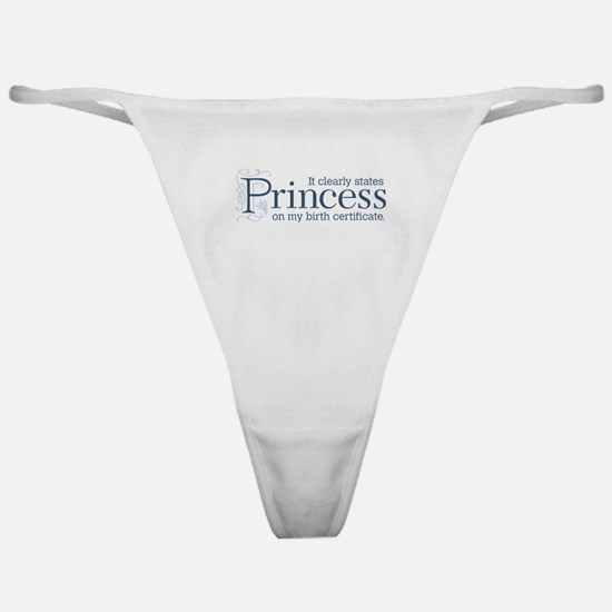 Princess Certificate Classic Thong