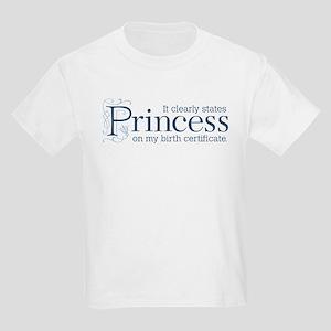 Princess Certificate Kids Light T-Shirt