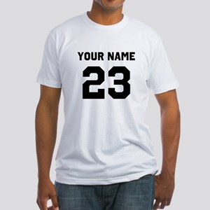 Customize sports jersey number Fitted T-Shirt