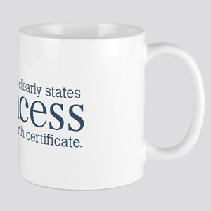 Princess Certificate Mug
