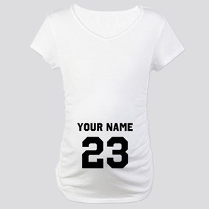 Customize sports jersey number Maternity T-Shirt