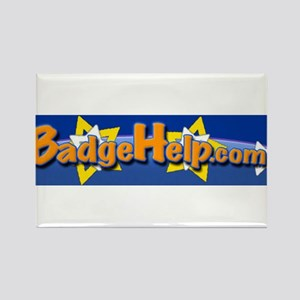 New BadgeHelp logo Rectangle Magnet (10 pack)