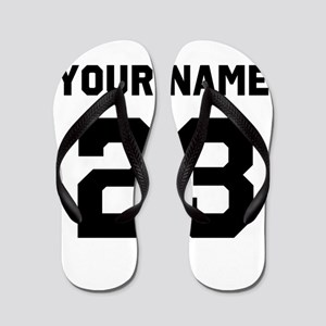 cdcaa9f78 Customize sports jersey number Flip Flops