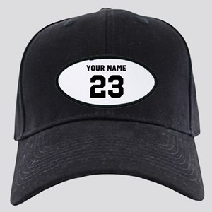 Customize sports jersey numbe Black Cap with Patch