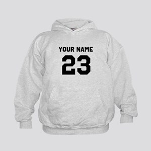 Customize sports jersey number Kids Hoodie