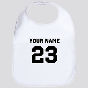 Customize sports jersey number Cotton Baby Bib