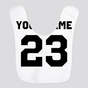 Customize sports jersey number Polyester Baby Bib