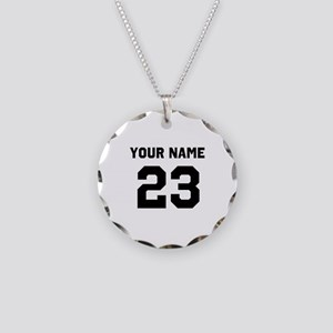 Customize sports jersey numb Necklace Circle Charm