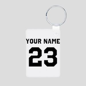 Customize sports jersey nu Aluminum Photo Keychain
