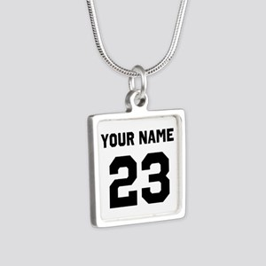 Customize sports jersey nu Silver Square Necklace