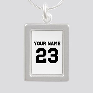 Customize sports jersey Silver Portrait Necklace
