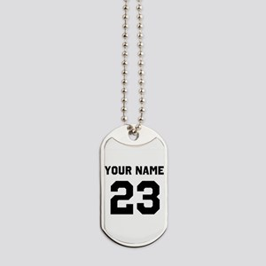Customize sports jersey number Dog Tags