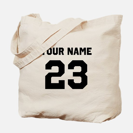 Customize sports jersey number Tote Bag