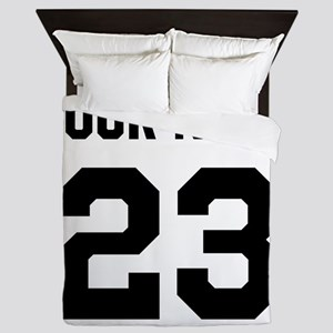 Customize sports jersey number Queen Duvet