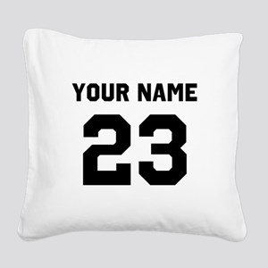 Customize sports jersey numbe Square Canvas Pillow