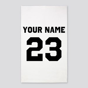 Customize sports jersey number Area Rug