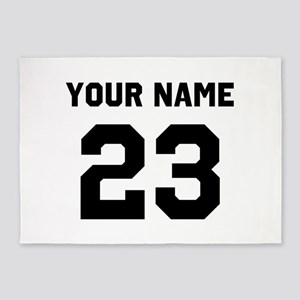 Customize sports jersey number 5'x7'Area Rug