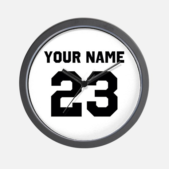 Customize sports jersey number Wall Clock