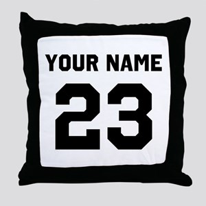 Customize sports jersey number Throw Pillow
