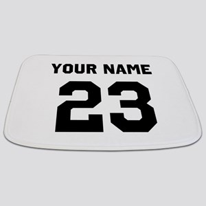 Customize sports jersey number Bathmat