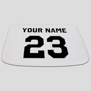 Customize sports jersey number Bathmat