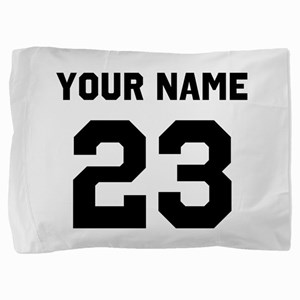 Customize sports jersey number Pillow Sham