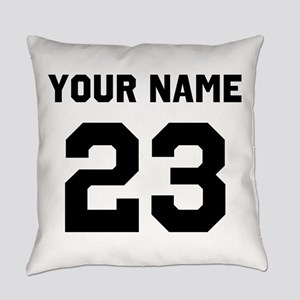 Customize sports jersey number Everyday Pillow